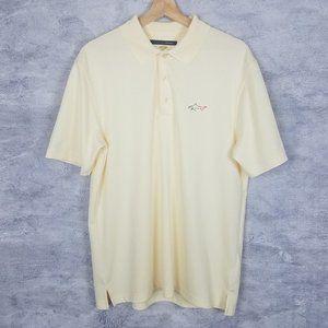 Yellow Greg Norman Play Dry Polo Medium